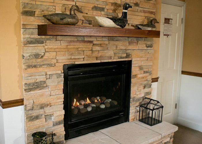 J. Patrick House fireplace