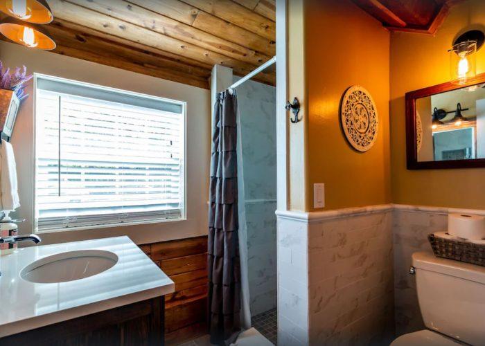 J. Patrick House Vacation Rental Upstairs Bathroom